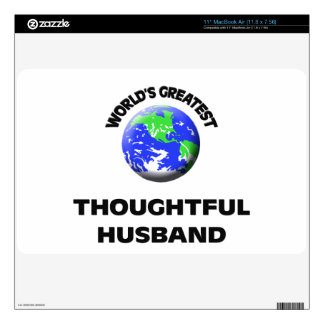 World s Greatest Thoughtful Husband Decal For The MacBook Air