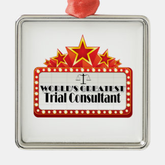 World s Greatest Trial Consultant Christmas Tree Ornaments