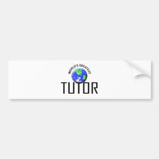 World s Greatest Tutor Bumper Sticker