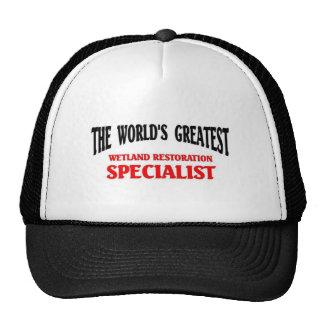 "World""s Greatest Wetland Specialist Trucker Hat"