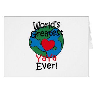 World's Greatest YaYa Heart Card