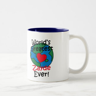 World's Greatest Zayde Heart Two-Tone Coffee Mug