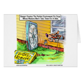 World s Happiest Dog Funny Gifts Tees Mugs Etc Greeting Card