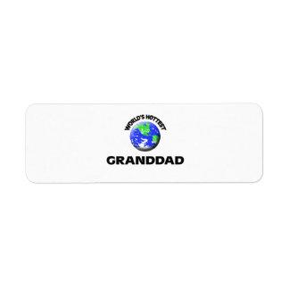 World s Hottest Granddad Labels