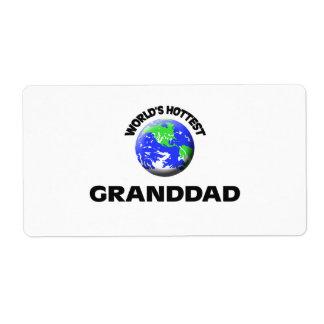 World s Hottest Granddad Custom Shipping Label