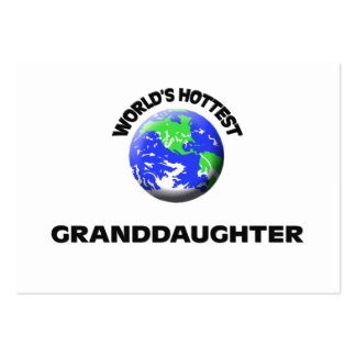 World s Hottest Granddaughter Business Card Templates