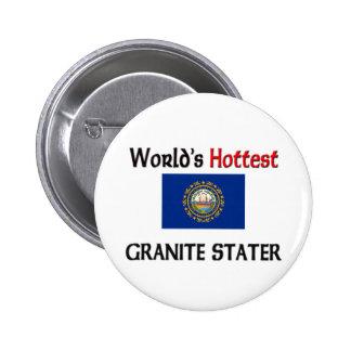World s Hottest Granite Stater Button