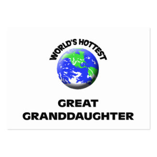 World s Hottest Great Granddaughter Business Card