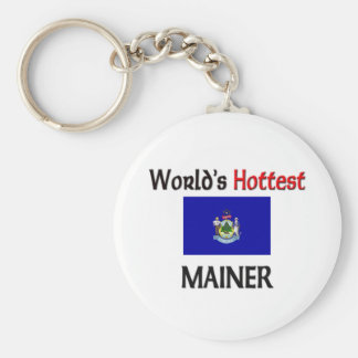 World s Hottest Mainer Key Chains