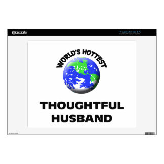 "World s Hottest Thoughtful Husband 14"" Laptop Skin"