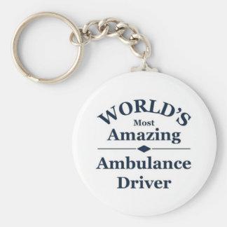 World`s most amazing Ambulance Driver Basic Round Button Keychain