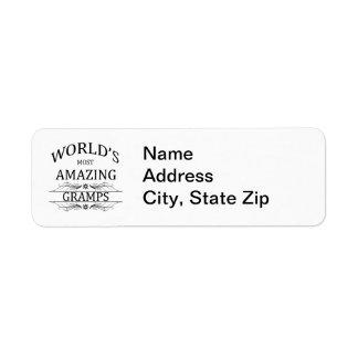 World s Most Amazing Gramps Custom Return Address Labels