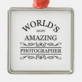 World`s most amazing Photographer Metal Ornament