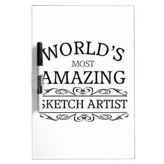 World s most amazing sketch artist dry erase white board