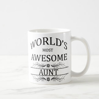 World s Most Awesome Aunt Coffee Mug