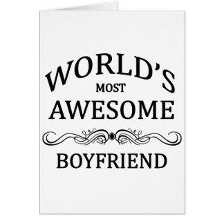 World s Most Awesome Boyfriend Card
