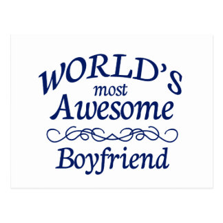 World s Most Awesome Boyfriend Post Card