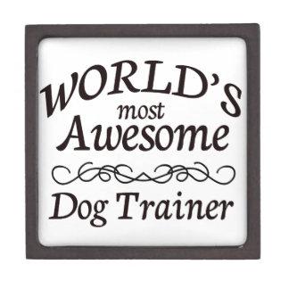 World s Most Awesome Dog Trainer Premium Keepsake Boxes