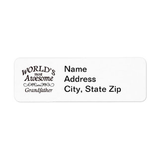 World s Most Awesome Grandfather Return Address Labels