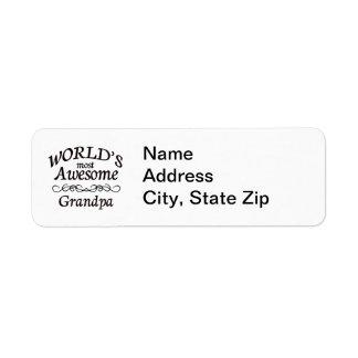 World s Most Awesome Grandpa Return Address Label