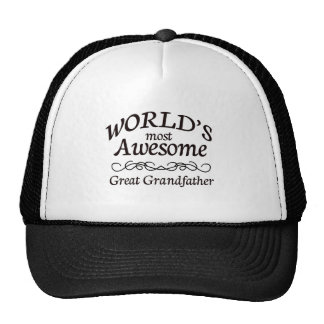 World s Most Awesome Great Grandfather Trucker Hat