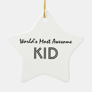 World s Most Awesome KID Christmas Tree Ornament