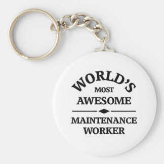 World s most awesome Maintenance Worker Keychains