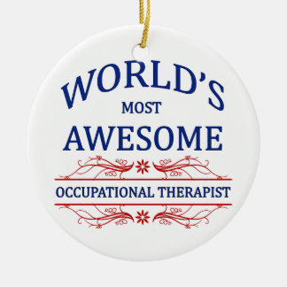 World s Most Awesome Occupational Therapist Christmas Tree Ornament
