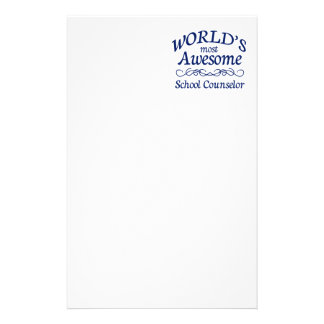 World s Most Awesome School Counselor Personalized Stationery