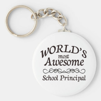 World s Most Awesome School Principal Keychain