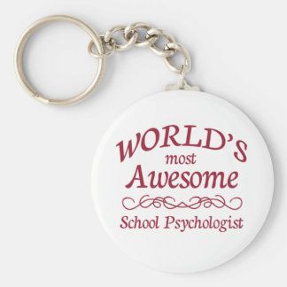 World s Most Awesome School Psychologist Key Chain