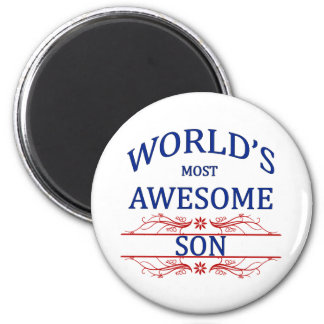 World s Most Awesome Son Refrigerator Magnets