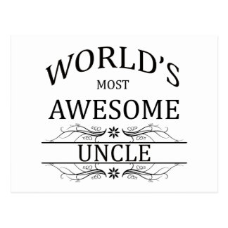 World s Most Awesome Uncle Postcards