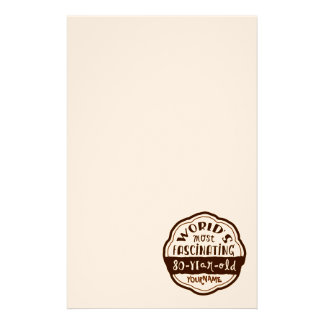 World s Most Fascinating 80-Year-Old Brown Peach Stationery Design