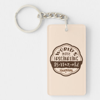 World s Most Fascinating 85-Year-Old Brown Peach Acrylic Key Chain