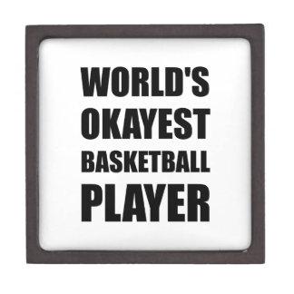 World?s Okayest Basketball Player Jewelry Box
