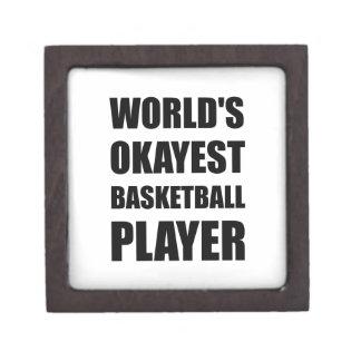 World?s Okayest Basketball Player Keepsake Box