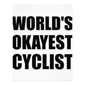 World?s Okayest Cyclist Letterhead