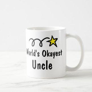 World s Okayest Uncle Coffee Mug Gift