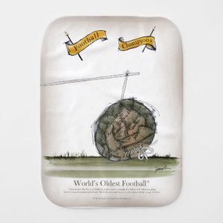 world's oldest football burp cloth