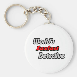 World s Sexiest Detective Key Chain