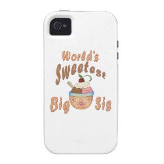 World s Sweetest Big Sis Sundae Case-Mate iPhone 4 Covers
