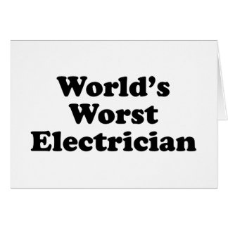 World s Worst Electrician Cards