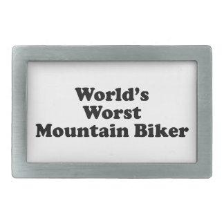 World s worst Mountain biker Rectangular Belt Buckle