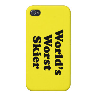 World s Worst Skier Cover For iPhone 4