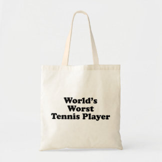 World s Worst Tennis Player Tote Bag