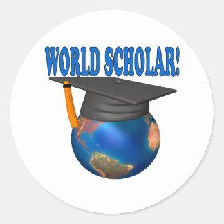 World Scholar 4 Classic Round Sticker