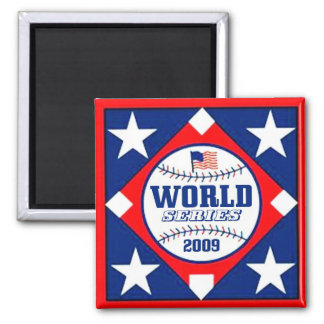 WORLD SERIES 2009 2 INCH SQUARE MAGNET
