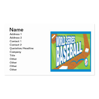 World Series Baseball Double-Sided Standard Business Cards (Pack Of 100)