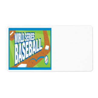World Series Baseball Label